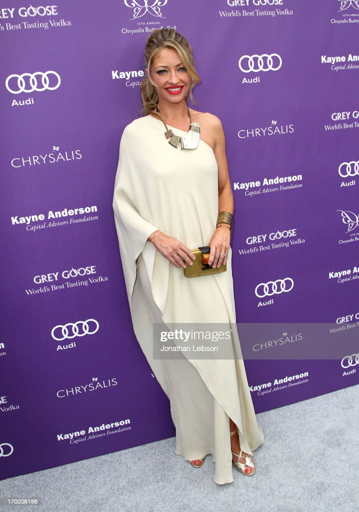 Chrysalis Co-Chair <a gi-track='captionPersonalityLinkClicked' href=/galleries/search?phrase=Rebecca+Gayheart&family=editorial&specificpeople=204784 ng-click='$event.stopPropagation()'>Rebecca Gayheart</a>-Dane arrives at the 12th Annual Chrysalis Butterfly Ball on June 8, 2013 in Los Angeles, California.