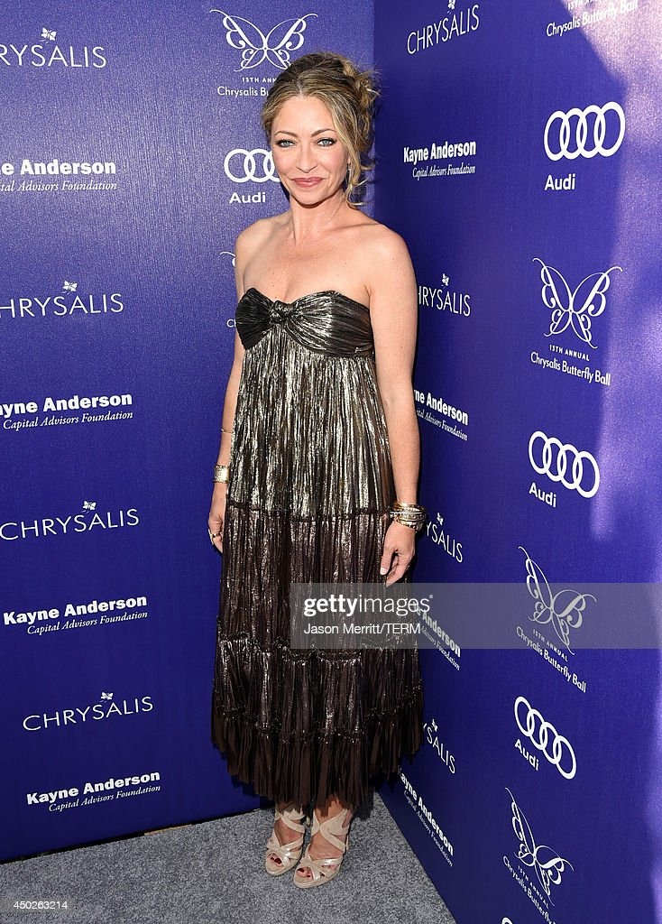 Chrysalis co-chair Rebecca Gayheart-Dane arrives at the 13th Annual Chrysalis Butterfly Ball in Los Angeles on June 7th, 2014.