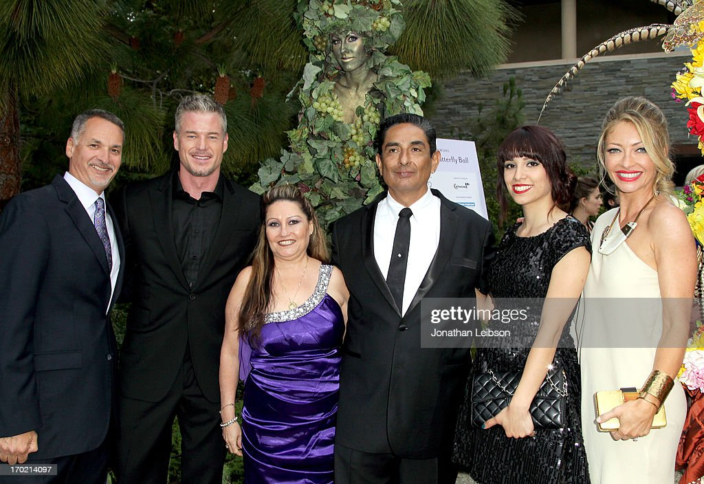 Chrysalis President & CEO Mark Loranger, actor Eric Dane, Darlene Gutierrez, Johnny Gutierrez, recipient of the John Dillon Award, Christina Gutierrez and Chrysalis Co-Chair <a gi-track='captionPersonalityLinkClicked' href=/galleries/search?phrase=Rebecca+Gayheart&family=editorial&specificpeople=204784 ng-click='$event.stopPropagation()'>Rebecca Gayheart</a>-Dane arrive at the 12th Annual Chrysalis Butterfly Ball on June 8, 2013 in Los Angeles, California.