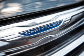 Chrysler 200 sits on display on a show room floor on August 6 2014 in New York City Chrysler Group LLC's profit gained 22% in the second quarter...