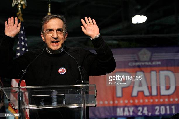 Chrysler Group and Fiat SpA CEO Sergio Marchionne announces the repayment of the remaining $59 billion of Chrysler's $105 billion loan from the US...