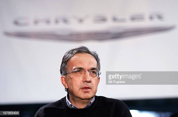 Chrysler Group LLC CEO Sergio Marchionne attends an event that celebrates the latest announcements about Chrysler products jobs and investments at...