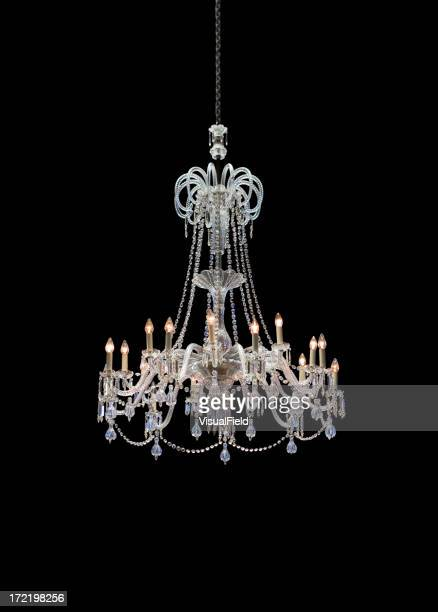 Chrystal chandelier isolated on black background