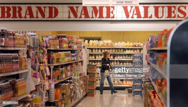 Chrystal Kennery of New Holland Pennsylvania shops at Amelia's Grocery Outlet a 'surplus' or 'salvage' grocer that buys manufacturers' closeouts...