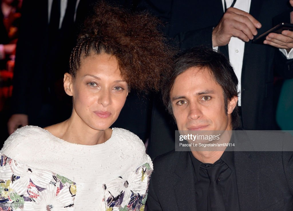 Chrystele SaintLouis Augustin and Gael Garcia Bernal attend amfAR's 21st Cinema Against AIDS Gala Presented By WORLDVIEW BOLD FILMS And BVLGARI at...