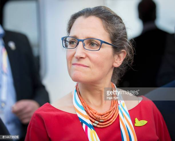 Chrystia Freeland Canada's foreign affairs minister joins the the G 20 summit on July 07 2017 in Hamburg Germany