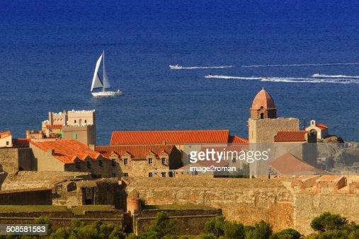 Königliches Schloss von Collioure : Stock-Foto