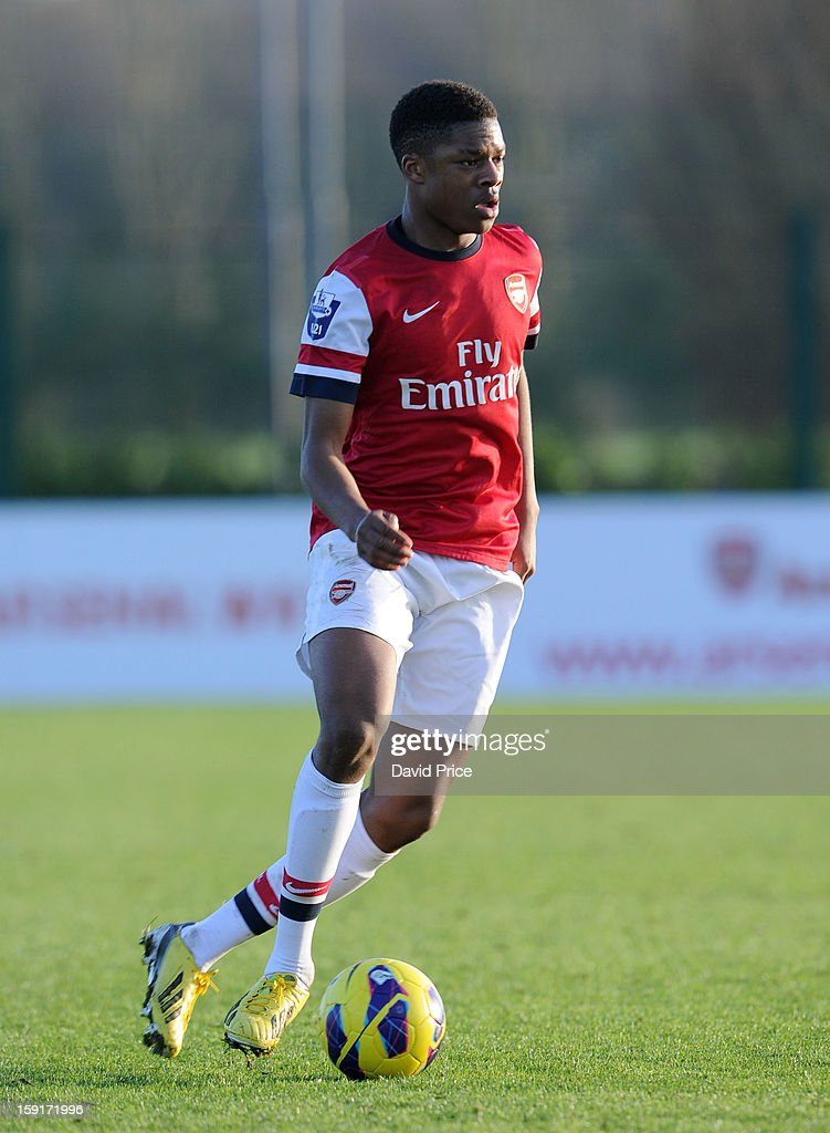 Chuba Akpom of Arsenal during the Barclays Premier U21 match between Arsenal U21 and West Bromwich Albion U21 at London Colney on January 9, 2013 in St Albans, United Kingdom.