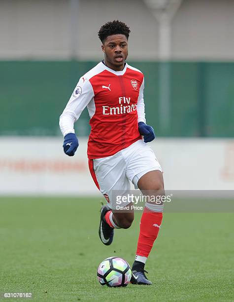 Chuba Akpom of Arsenal during the match between Arsenal U23 and Derby County U23 at London Colney on January 6 2017 in St Albans England