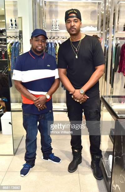 Chubbie Baby and DJ Infamous attend Sip Shop Listen for The 'Crown' EP at Philipp Plein on April 12 2017 in Atlanta Georgia