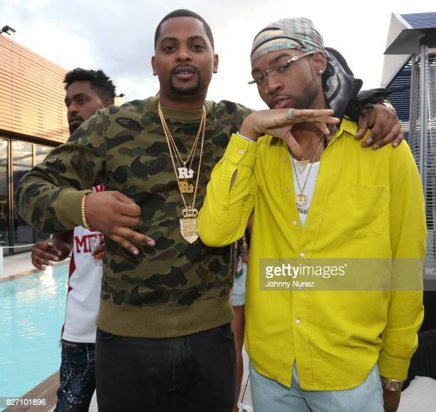 OVO Chubbs and PARTYNEXTDOOR attend the French Montana 'Unforgettable Party' In Toronto For Caribana 2017 on August 6 2017 in Toronto Canada