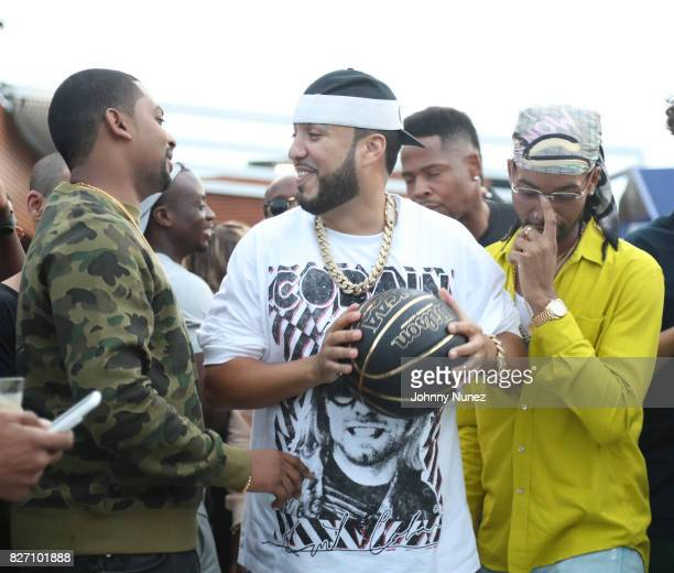 OVO Chubbs French Montana and PARTYNEXTDOOR attend the French Montana 'Unforgettable Party' In Toronto For Caribana 2017 on August 6 2017 in Toronto...