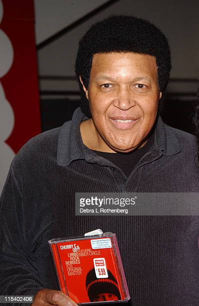 Chubby Checker during Chubby Checker Signs Copies Of 'Limbo Rock Remixes' at Times Square Virgin Megastore in New York City New York United States
