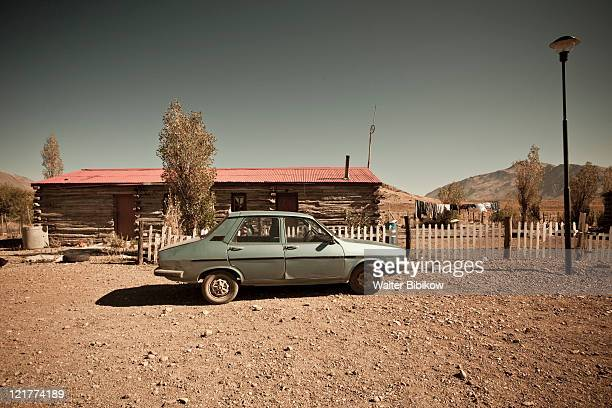 Chubut Province, Patagonia, Argentina, Nahuel Pan, Renault 12 car and house, downtown