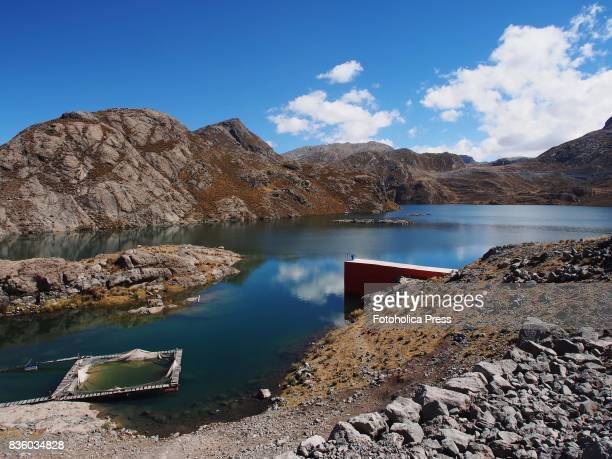 Chuchon Lake dam The Lima Water and Sewerage Service organized a tour of its facilities 'By the water route' from the storage dams in the Andes...