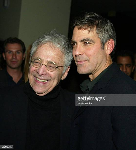 Chuck Barris and George Clooney at the premiere of 'Confessions of a Dangerous Mind' at the Bruin Theatre and afterparty at the W Hotel in Los...