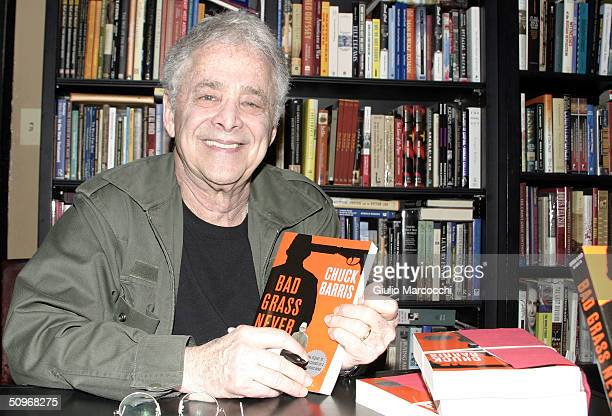 Chuck Barris Signs Copies of 'Bad Grass Never Dies' at Book Soup on June 16 2004 in West Hollywood California