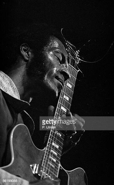 Chuck Berry American guitarist singer and composer Paris Olympia 1973