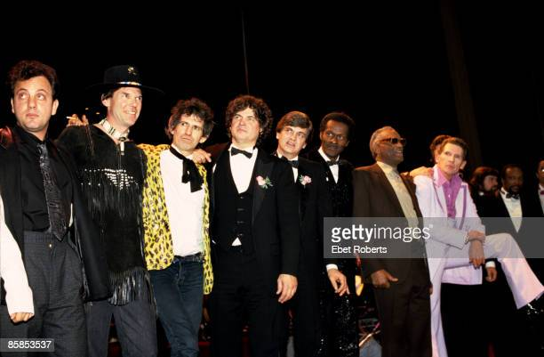 ASTORIA Photo of Chuck BERRY and Billy JOEL and Neil YOUNG and Keith RICHARDS and Don EVERLY and Phil EVERLY and Ray CHARLES and Jerry Lee LEWIS and...