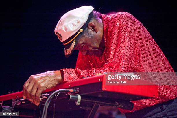 Chuck Berry collapses while performing at the Congress Theater on January 1 2011 in Chicago Illinois
