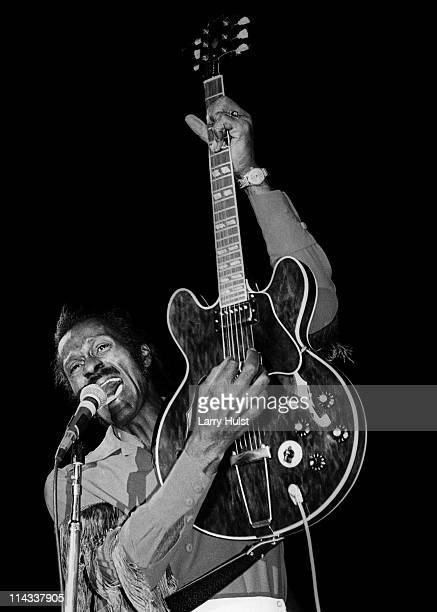 Chuck Berry performing at Cal Expo in Sacramento California on January 1 1976