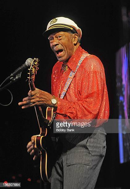 Chuck Berry performs at BB King Blues Club Grill on December 31 2011 in New York City