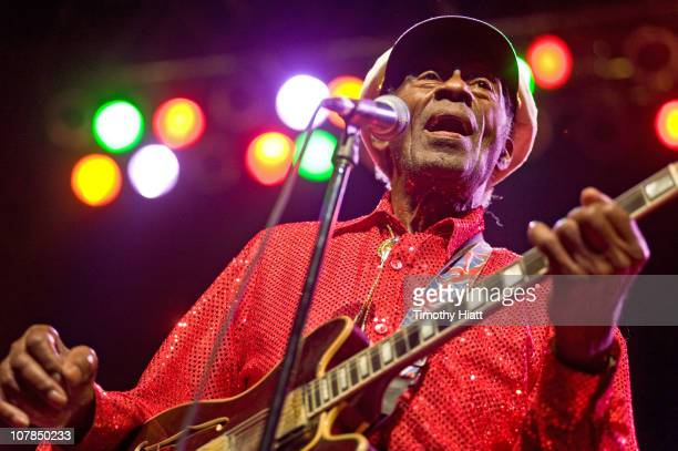 Chuck Berry performs at the Congress Theater on January 1 2011 in Chicago Illinois