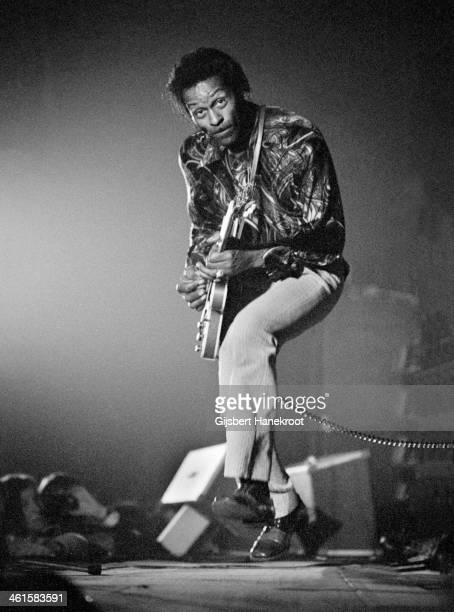 Chuck Berry performs live at the Concertgebouw in Amsterdam Holland in 1973