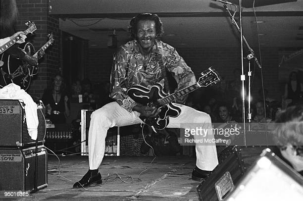 Chuck Berry performs live at Wolfgang's nightclub in 1981 in San Francisco California