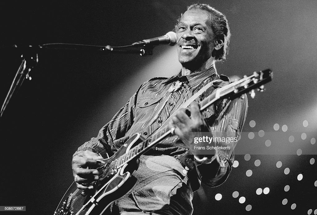 Chuck Berry, vocal-guitar, performs at the North Sea Jazz Festival in the Hague, Netherlands on 14th July 1995.