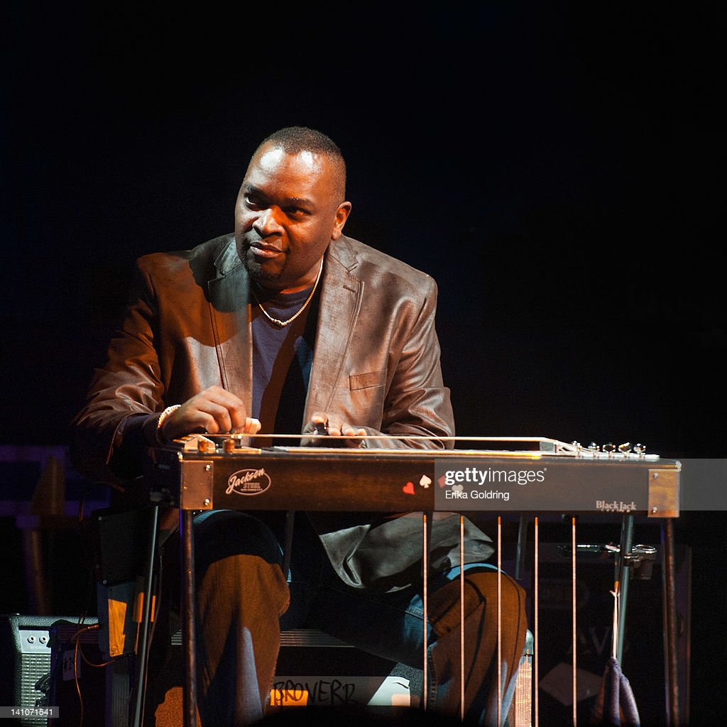 Chuck Campbell of the Campbell Brothers performs with Robert Randolph during the Experience Hendrix Tour at the Tennessee Performing Arts Center on March 9, 2012 in Nashville, Tennessee.