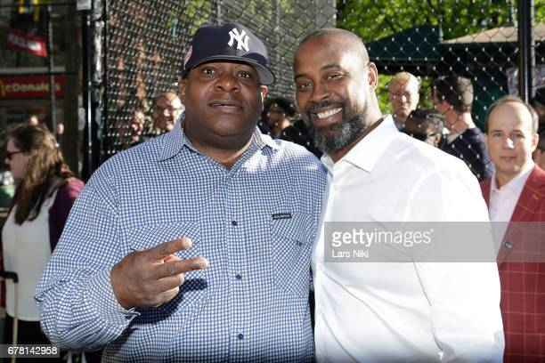 Chuck Chillout and Former NBA player Kenny Anderson attend the MR CHIBBS Opening Night screening at the West Fourth Street Courts on May 3 2017 in...