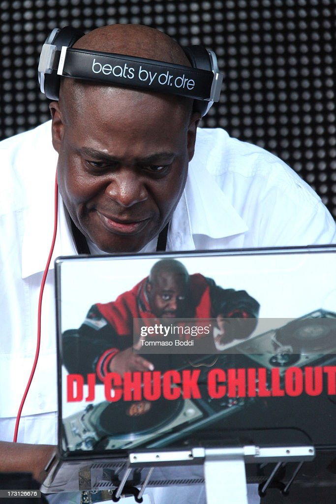 DJ Chuck Chillout performs at the Kings Of The Mic Tour held at The Greek Theatre on July 7, 2013 in Los Angeles, California.