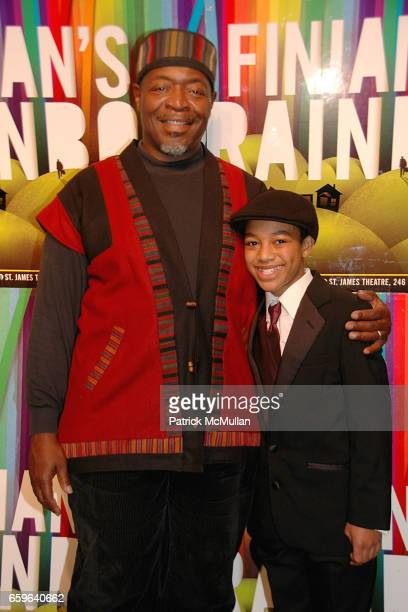 Chuck Cooper and Christopher Borger attend FINIAN'S RAINBOW Broadway OPENING After Party at Bryant Park Grill on October 29 2009 in New York