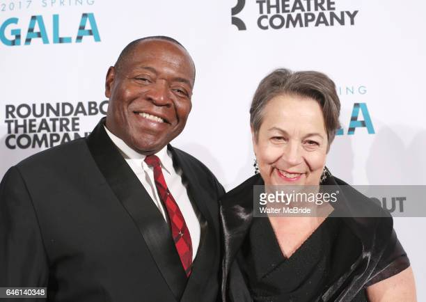 Chuck Cooper and Deborah Brevoort attend the Roundabout Theatre Company's 2017 Spring Gala 'Act ii Setting the Stage for Roundabout's Future' at the...