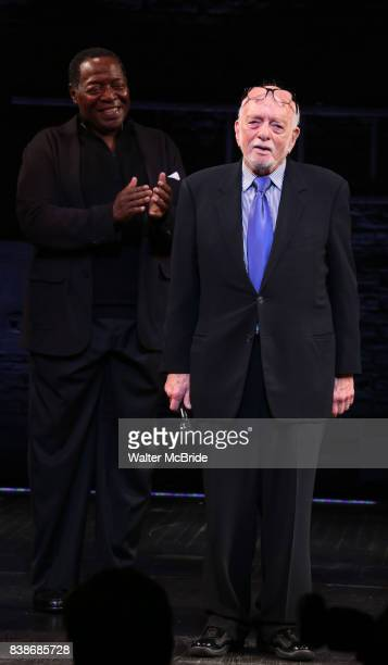 Chuck Cooper and Hal Prince during the Broadway Opening Night performance Curtain Call for 'Prince of Broadway' at the Samuel J Friedman Theatre on...