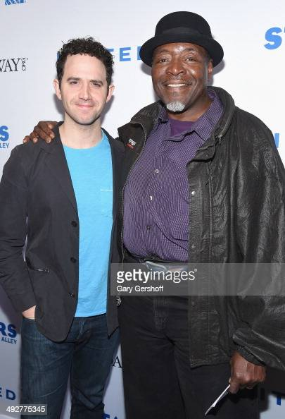 Chuck Cooper and Santino Fontana attend 'Stars In The Alley' at Shubert Alley on May 21 2014 in New York City
