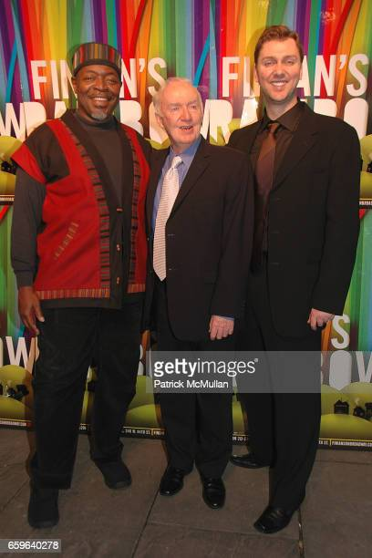 Chuck Cooper Jim Norton and Warren Carlyle attend FINIAN'S RAINBOW Broadway OPENING After Party at Bryant Park Grill on October 29 2009 in New York