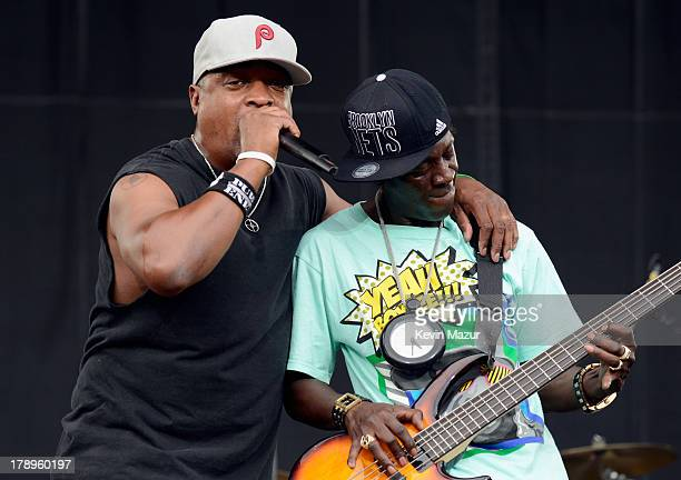 Chuck D and Flavor Flav performs during the 2013 Budweiser Made In America Festival at Benjamin Franklin Parkway on August 31 2013 in Philadelphia...
