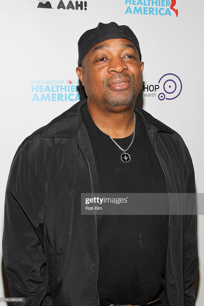 <a gi-track='captionPersonalityLinkClicked' href=/galleries/search?phrase=Chuck+D&family=editorial&specificpeople=212935 ng-click='$event.stopPropagation()'>Chuck D</a> attends the 2013 kick-off event for Songs for a Healthier America at Symphony Space on September 30, 2013 in New York City.