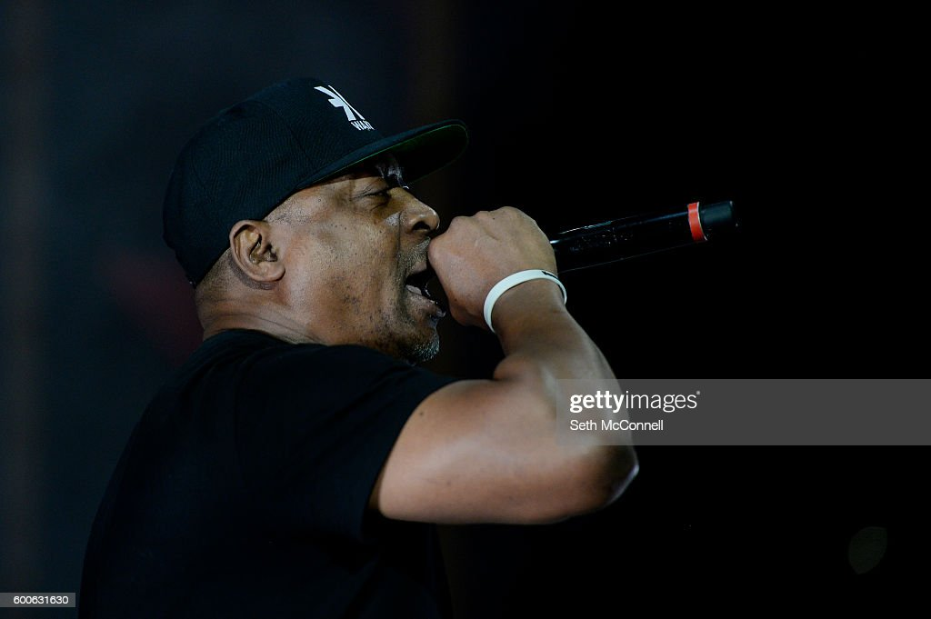 Chuck D of Prophets of Rage perform at Red Rocks Amphitheatre in Morrison, Colorado on September 7, 2016.