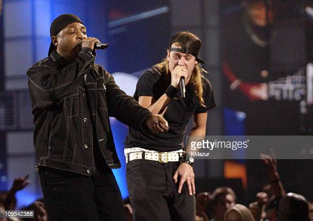 Chuck D of Public Enemy and Kid Rock perform a tribute to Run DMC
