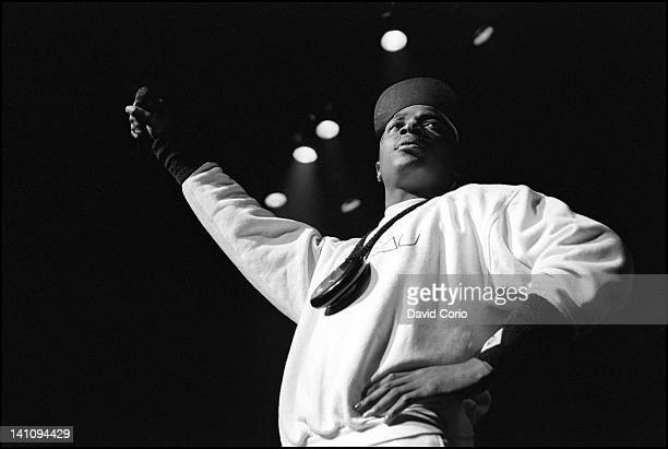 Chuck D of Public Enemy performing at Hammersmith Odeon London UK on 2nd November 1987