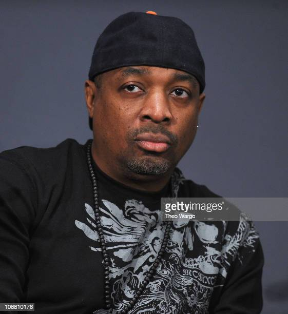 Chuck D of Public Enemy visits the Apple Store Soho on February 3 2011 in New York City