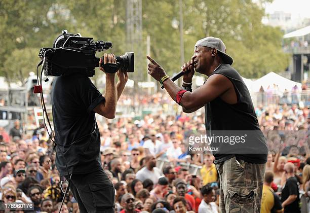 Chuck D performs during the 2013 Budweiser Made In America Festival at Benjamin Franklin Parkway on August 31 2013 in Philadelphia Pennsylvania