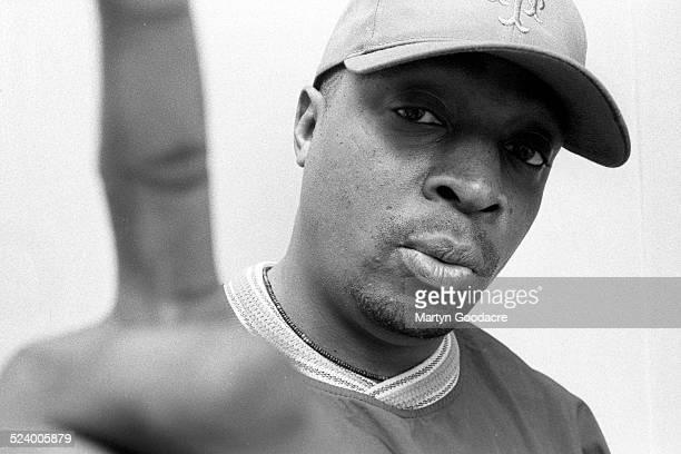 Chuck D rapper with Public Enemy portrait London United Kingdom 1997