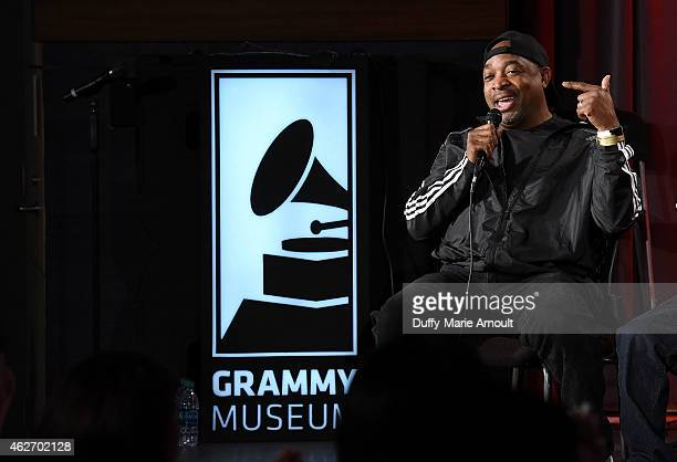 Chuck D speaks during All Eyez On Me Celebrating The Life And Legacy of Tupac Shakur at The GRAMMY Museum on February 2 2015 in Los Angeles California