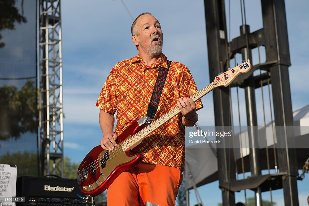 Chuck Dukowski of FLAG performs on stage on Day 2 of Riot Fest and Carnival 2013 at Humboldt Park on September 14, 2013 in Chicago, Illinois.