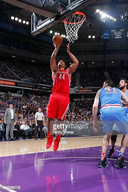 Chuck Hayes of the Houston Rockets shoots the ball against the Sacramento Kings on November 6 2015 at Sleep Train Arena in Sacramento California NOTE...