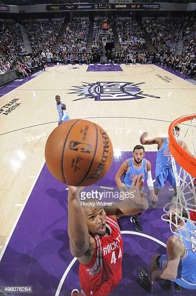 Chuck Hayes of the Houston Rockets shoots the ball against the Sacramento Kings at Sleep Train Arena on November 6 2015 in Sacramento California NOTE...
